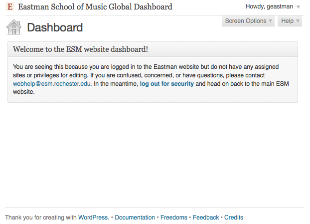 Eastman Global Dashboard Widget