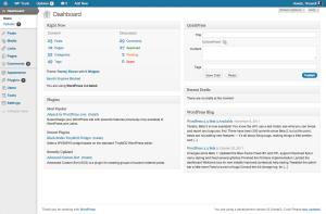 3.3, gray admin theme, dashboard