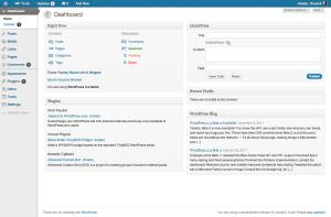 3.3, gray admin theme, dashboard