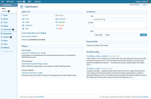 3.3, blue admin theme, dashboard