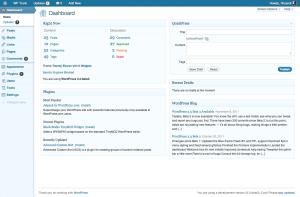 3.3, blue admin theme, dashboard